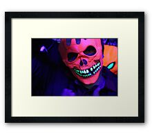 Neon Glowing Mask Notebook Framed Print
