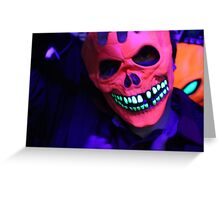 Neon Glowing Mask Notebook Greeting Card