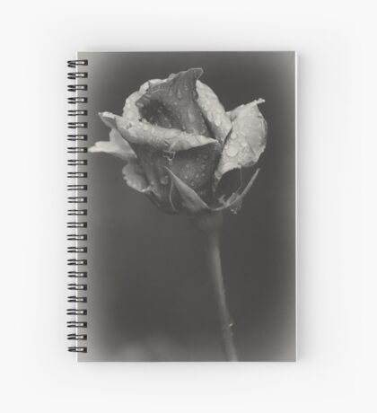 Gray rose Spiral Notebook