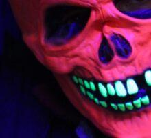 Neon Glowing Mask Notebook Sticker
