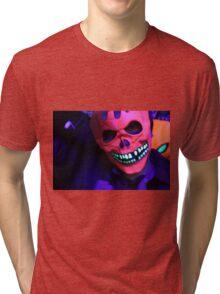 Neon Glowing Mask Notebook Tri-blend T-Shirt