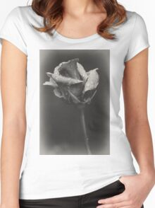 Gray rose Women's Fitted Scoop T-Shirt