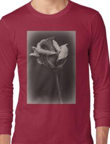Gray rose Long Sleeve T-Shirt