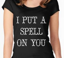 I put a spell on you white Women's Fitted Scoop T-Shirt