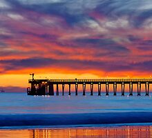 Bacara (Haskell's ) Beach and pier, Santa Barbara by Eyal Nahmias