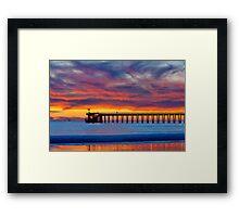 Bacara (Haskell's ) Beach and pier, Santa Barbara Framed Print