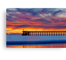 Bacara (Haskell's ) Beach and pier, Santa Barbara Canvas Print