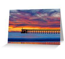 Bacara (Haskell's ) Beach and pier, Santa Barbara Greeting Card