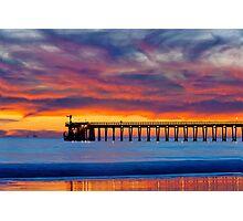 Bacara (Haskell's ) Beach and pier, Santa Barbara Photographic Print