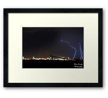 Lightning Over Kwinana Framed Print