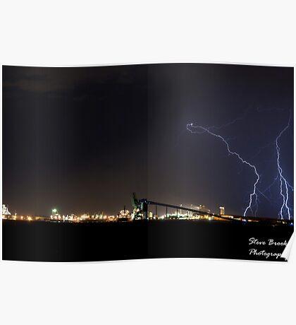 Lightning Over Kwinana Poster