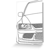 Evo outline - black Greeting Card