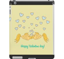 Happy Valentine Day goldfish iPad Case/Skin