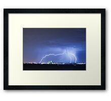 Industrial Lightning Framed Print