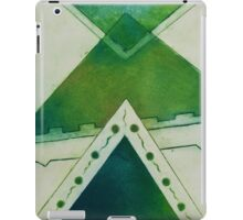 Unbalanced Triangles Green Version iPad Case/Skin
