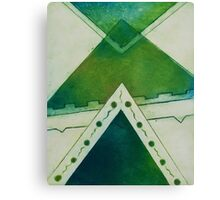 Unbalanced Triangles Green Version Canvas Print