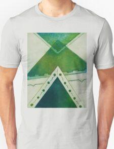 Unbalanced Triangles Green Version Unisex T-Shirt