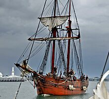 Tall ship Enterprize at Geelong Wooden Boat Festival by Tom Smeaton