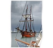 Tall ship Enterprize at Geelong Wooden Boat Festival Poster