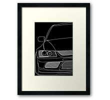 Evo outline - white Framed Print