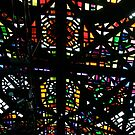 Stained glass ceiling by Maggie Hegarty