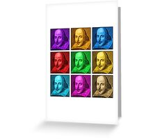 William Shakespeare Pop Art Greeting Card