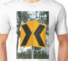 Converging Arrow Sign Unisex T-Shirt