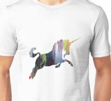 Unicorn, Colorful Unicorn Silhouette Unisex T-Shirt