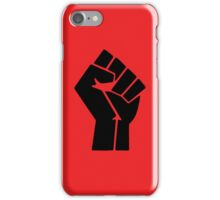 Power to the People Fist Red iPhone Case/Skin