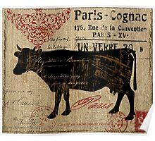 Cow Farm Ferme Paris  Poster