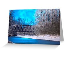 Railroad Bridge over the Wallace River (color) Greeting Card