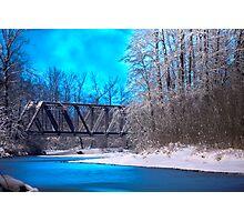 Railroad Bridge over the Wallace River (color) Photographic Print