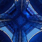 Eiffel Tower Blue lights by Mitchthe