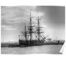 Endeavour in Albany harbour Poster