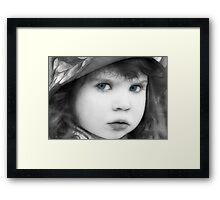 Sweet Little Blue Eyes Framed Print