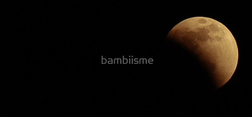 Almost Lunar Eclipse : 10/12/2011 by bambiisme