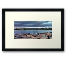 The Rocks of Hunter Bay Framed Print