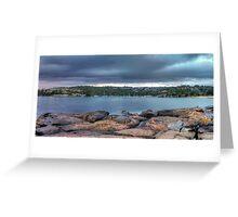 The Rocks of Hunter Bay Greeting Card