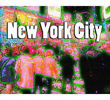 Times Square Crowd Photographic Print