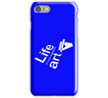 Art v Life - Blue iPhone Case/Skin