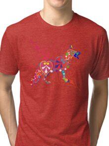 Psy German Shepherd dog Tri-blend T-Shirt