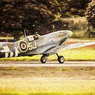 Spitfire Painting by Dean Messenger