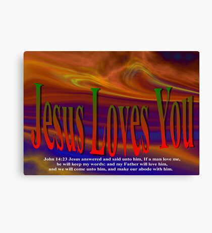 Jesus Valentine Card To You Canvas Print
