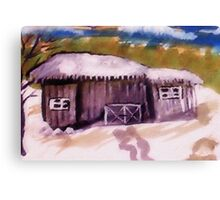 First snow of the season, watercolor Canvas Print