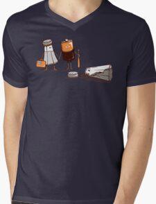 Assault and Battery Love Story | Funny Cute Cartoon Mens V-Neck T-Shirt