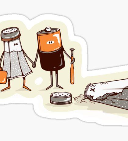Assault and Battery Love Story | Funny Cute Cartoon Sticker