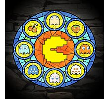 In the House of Wakka Wakka Wakka - Pac-man Stained Glass Photographic Print