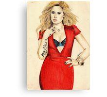 Demi Lovato for Cosmopolitan Canvas Print