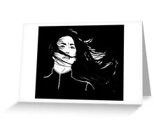 Aeryn Sun - BLACK BG Greeting Card