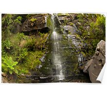 Rocky Puzzle at Upper Kalimna Falls Poster